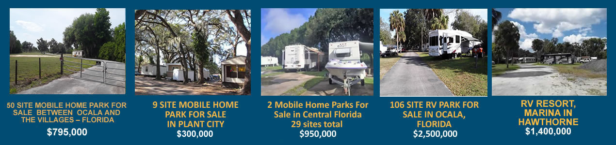 9 Site Mobile Home Park For Sale in Plant City, Florida - $300,000